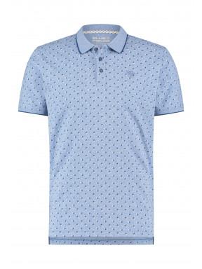 Polo-met-all-over-print---bleu-claire/cobalt