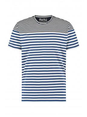 T-shirt-à-rayures-imprimé