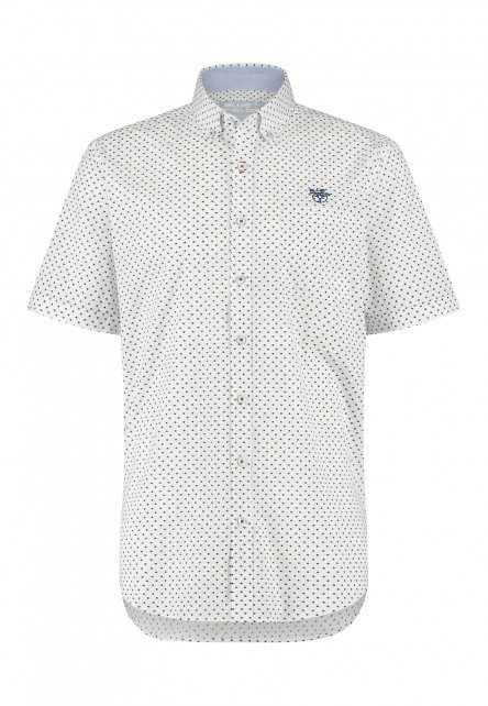 Overhemd-met-fijne-print---grijsblauw/wit