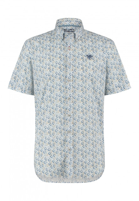 Stretch-overhemd-van-katoen---gris-bleu/sablé