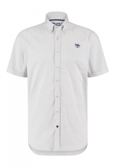 Korte-mouw-overhemd-met-print---corail/cobalt