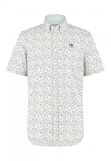 Button-down-overhemd-met-regular-fit---goudgeel/lichtgroen
