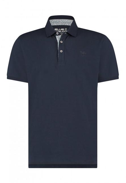 Polo-van-100%-katoen---donkerblauw-uni