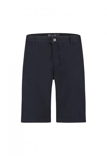 Short-met-regular-fit---blue-foncé-uni