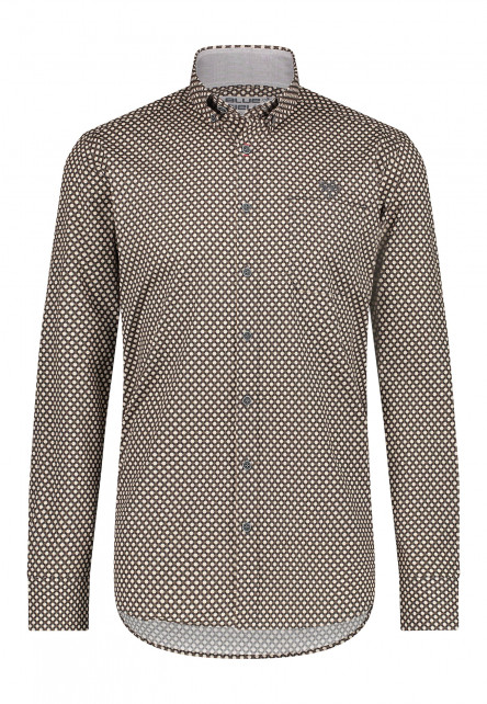 Poplin-overhemd-met-button-down-kraag---mango/donkerantracit