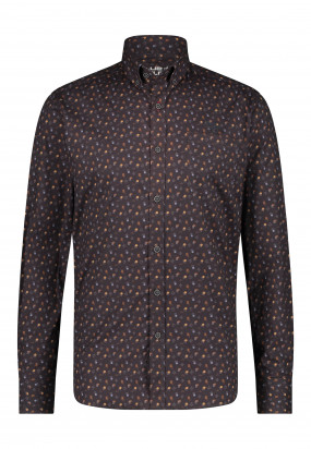 Overhemd-met-een-all-over-print---donkerantraciet/mango