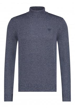 Coltrui-met-regular-fit-en-logo-op-de-borst---donkerblauw/zilvergrijs