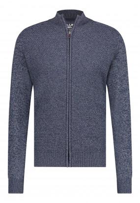 Vest-van-een-gerecyclede-polyester-mix---donkerblauw/zilvergrijs
