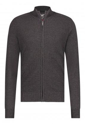Vest-van-een-gerecyclede-polyester-mix---sepia/donkerantracit